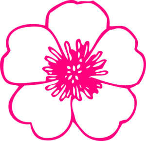 Pink buttercup clip art. Wildflower clipart image freeuse