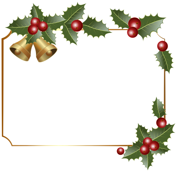 Christmas border png. Decor with bells clipart
