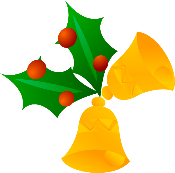 Bell border png. Christmas bells rotated clip