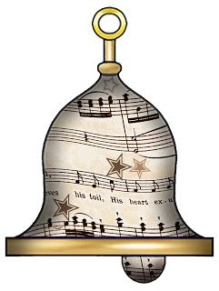 Artbyjean vintage sheet music. Bell clipart musical bell png freeuse download