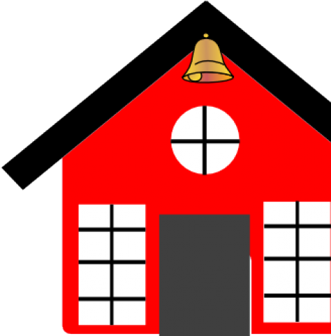 Bell clipart schoolhouse. Download cartoon school house