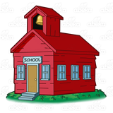 Bell clipart schoolhouse. Abeka clip art red