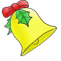 Bell clipart table. Cilpart project ideas christmas