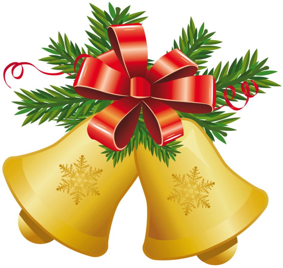 Bell clipart transparent background. Christmas yellow bells with