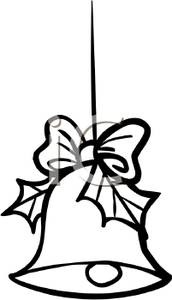 Bell clipart white christmas. Cartoon of a black