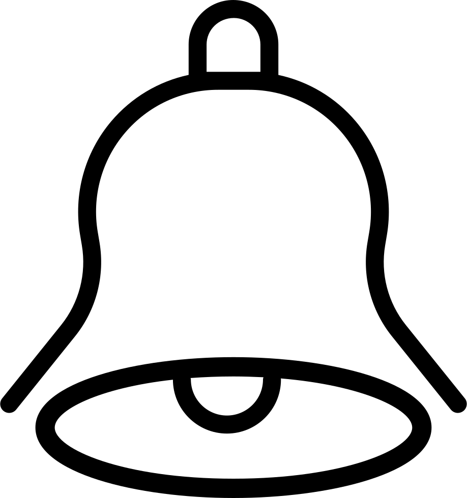 Bell outline png. Svg icon free download