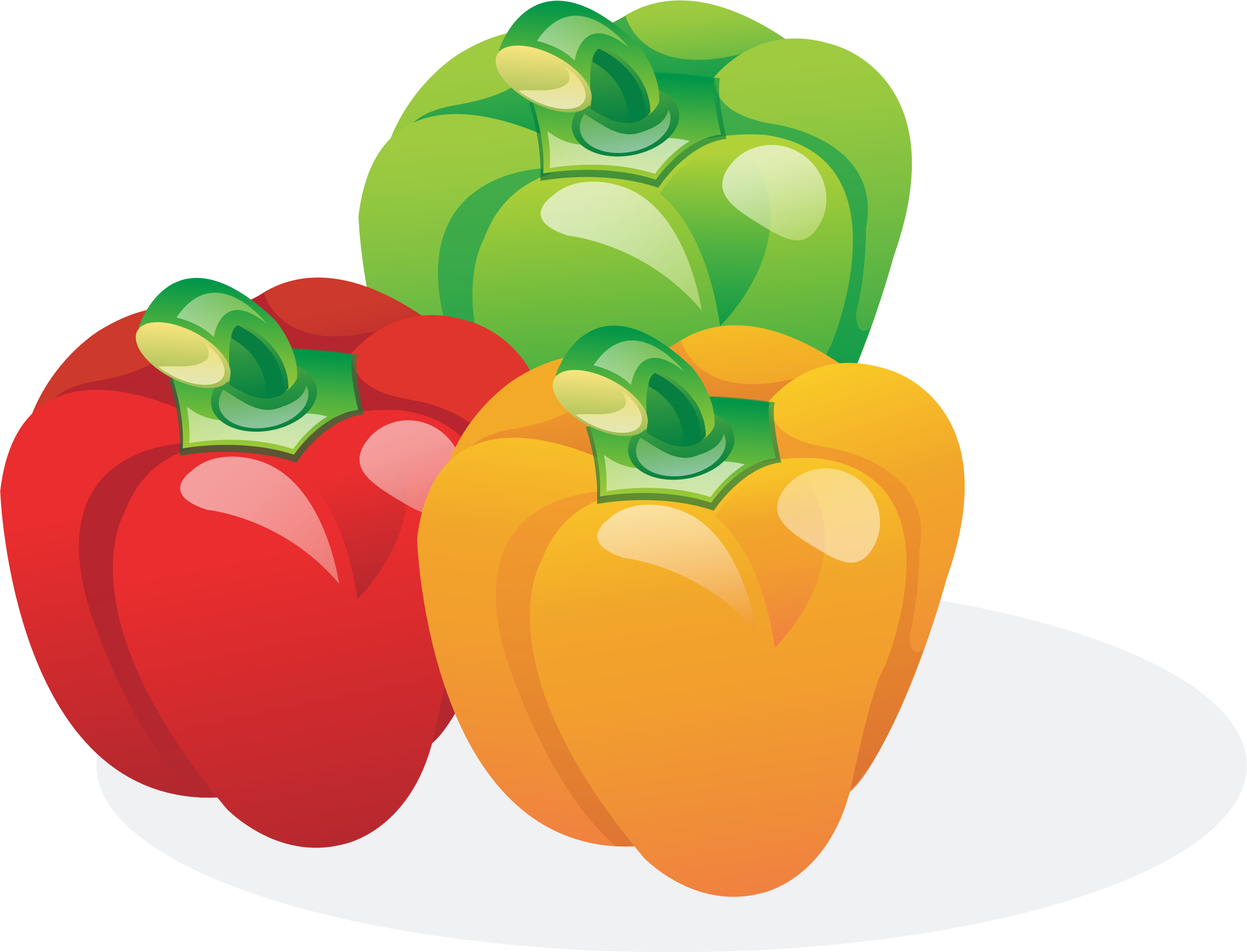 Bell pepper plant png. Multicolored peppers icons free
