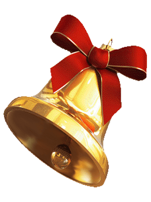 Bell photo png no background. Christmas gold transparent image