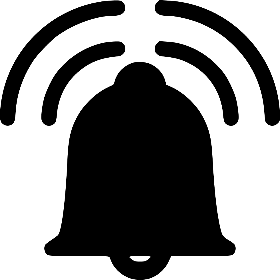 Bell ringing png. Alarm svg icon free