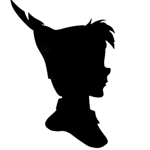 Ursula svg silhouette. Peter pan and wendy