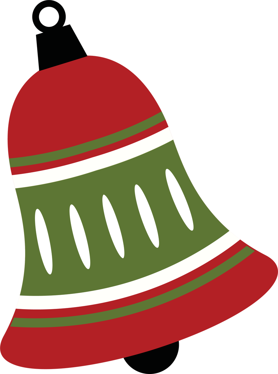 Bell svg file. Christmas cut snap click