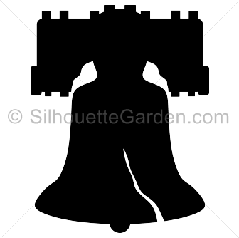 Bell svg silhouette. Liberty