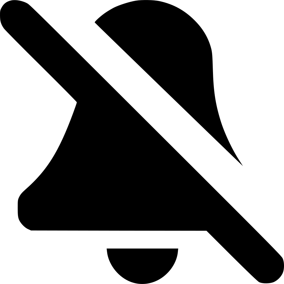 Bell symbol png. Mute svg icon free