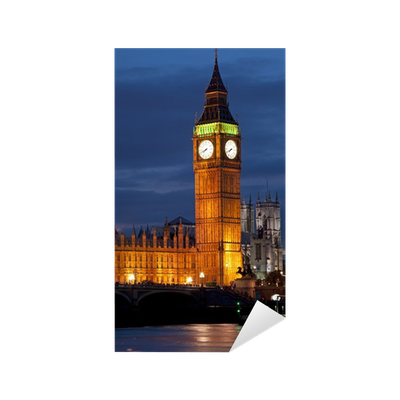Bell tower at night png. Big ben clock and