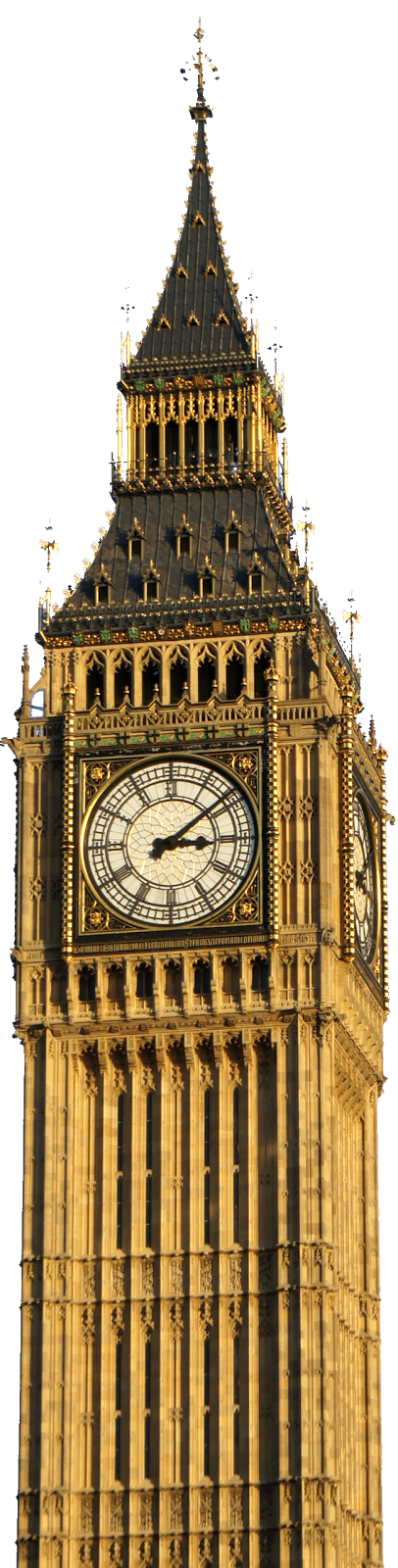 Bell tower at night png. London clock transparent images