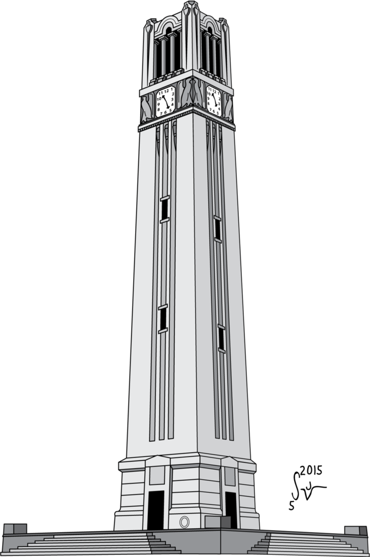 Bell tower at night png. Ncsu memorial by sjvernon