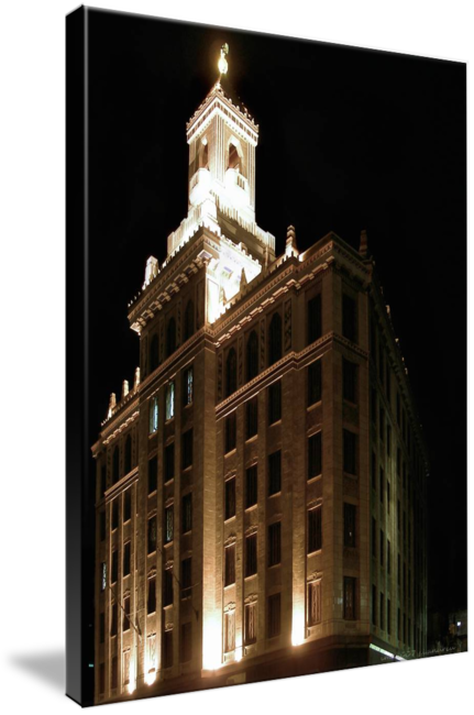 Bell tower at night png. Bacardi building by john