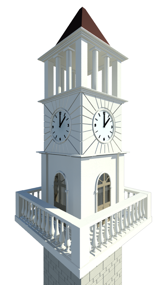 Clock of tirana by. Bell tower png clipart library download