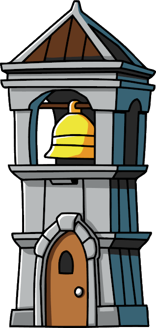 Image scribblenauts wiki fandom. Bell tower png banner free