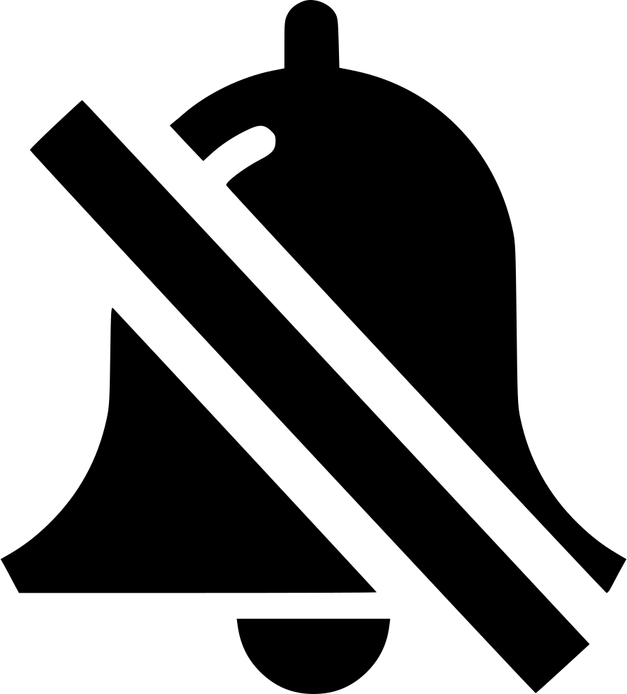 Bell vector png. Silent svg icon free