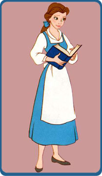 Belle clipart belle blue dress. Beauty and the beast