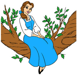 Emcosplay d passez le. Belle clipart belle blue dress png library library