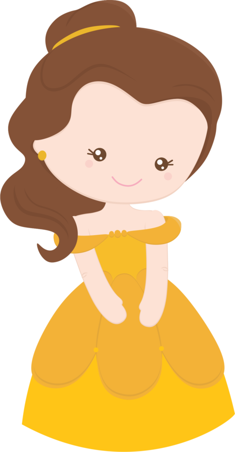 Belle clipart little. Minus say hello prince