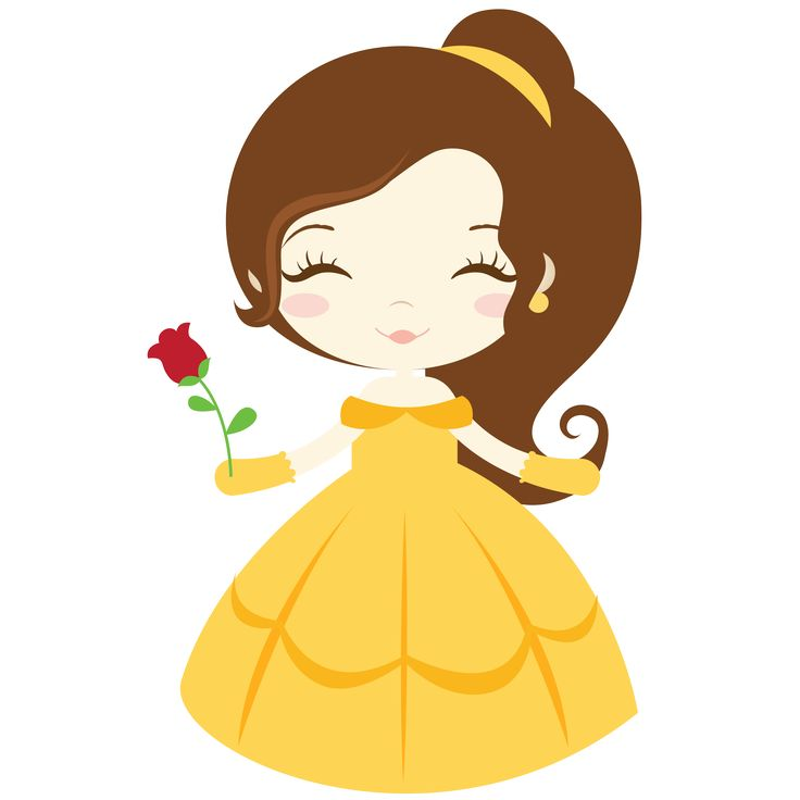 Belle clipart little. Disney princess at getdrawings