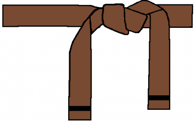 Belt clipart brown belt. W single stripe