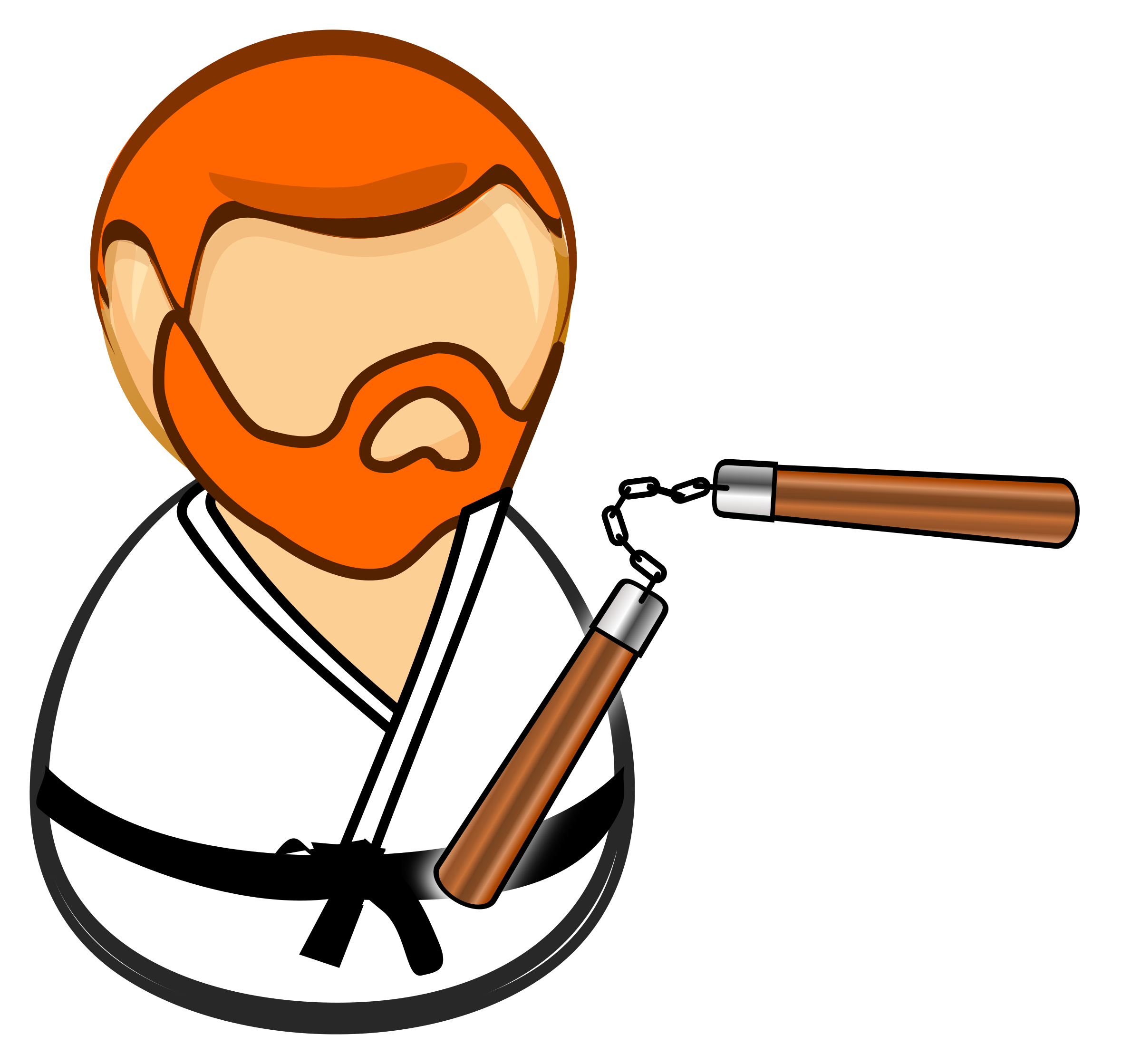 Vector host cartoon. Chuck norris clipart free