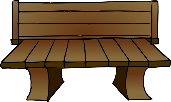 Vector furniture kursi. Bench clipart