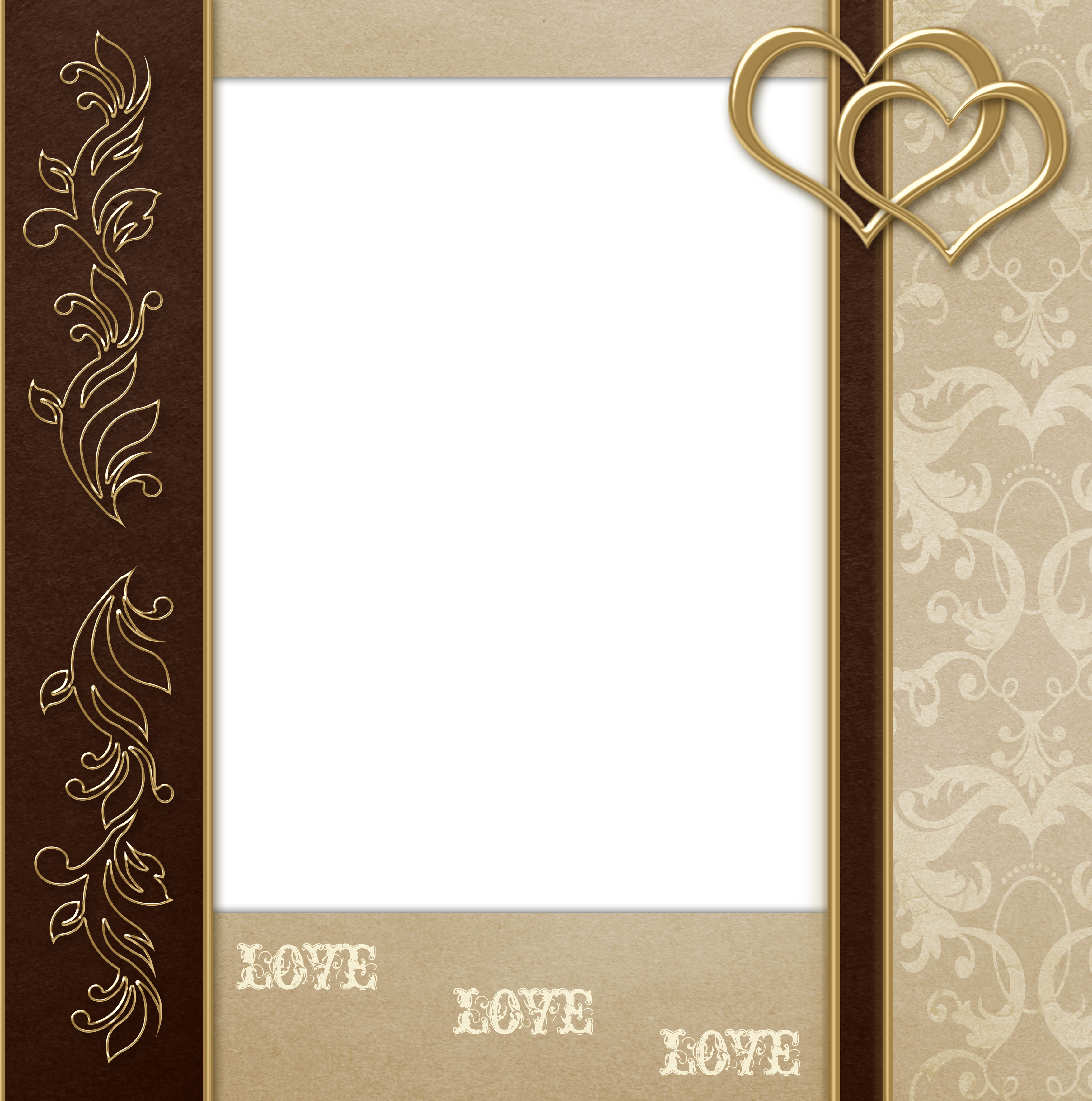 Marriage angels frames png. Stylish transparent brown and