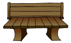 Bench clipart wooden bench.