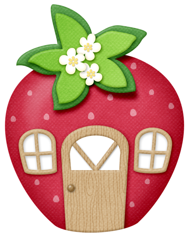 Berries clipart smiley baby. Lliella strawberrykisses house png