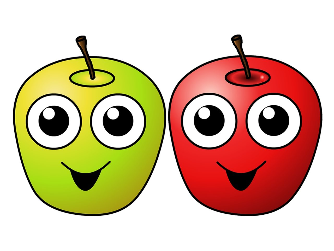 Berries clipart smiley baby. Apples are yummy learn