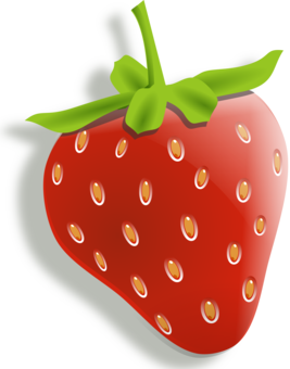 Strawberry clipart strawberry blueberry. Fruit flower free commercial