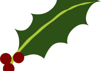 Berry vector illustration. Holly and berries clip