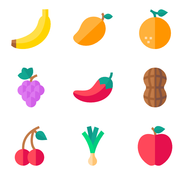 Vector fruits svg. Berry icons free