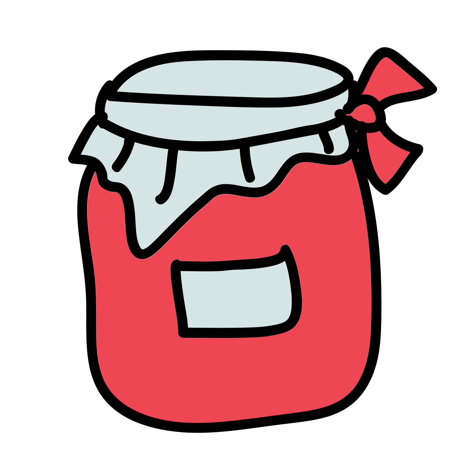 Berry vector doodle. Jam icon free download