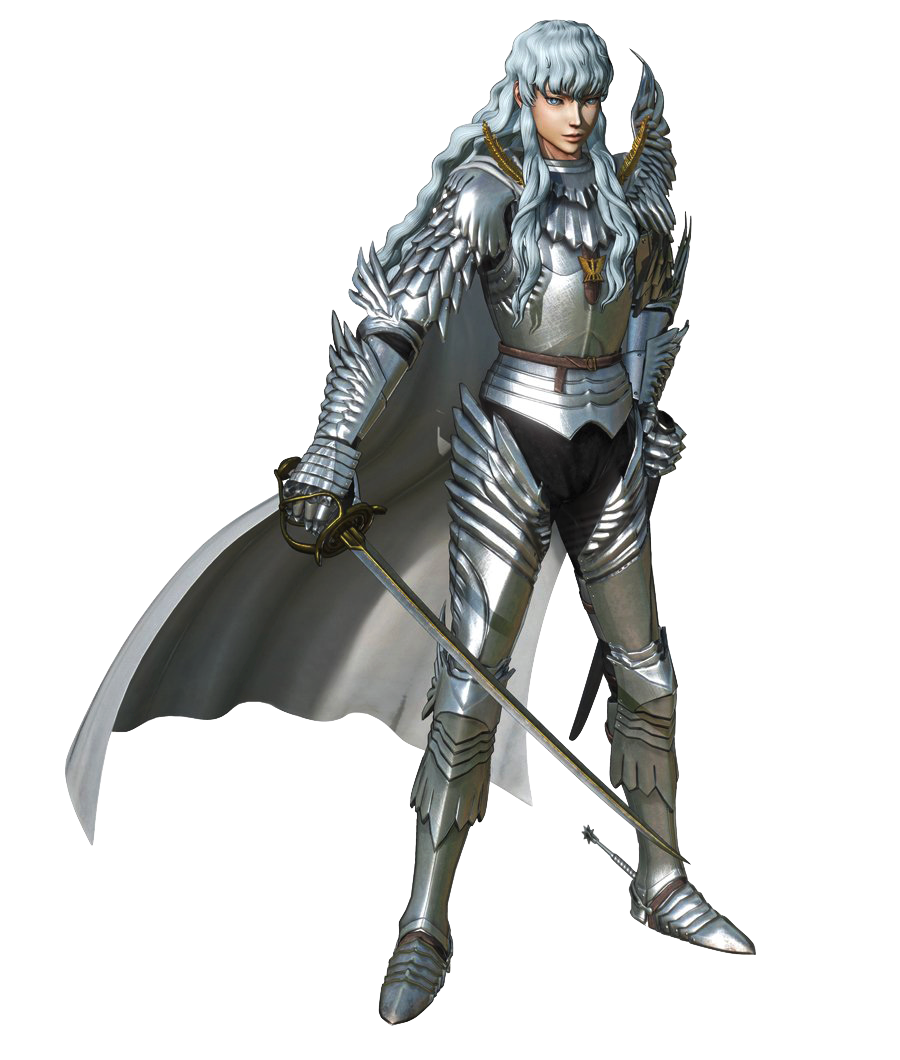 Berserk drawing warrior. Griffith render and the