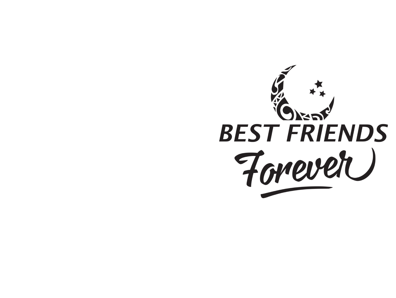 Bestfriends forever text sticker. Best friends png picture royalty free download