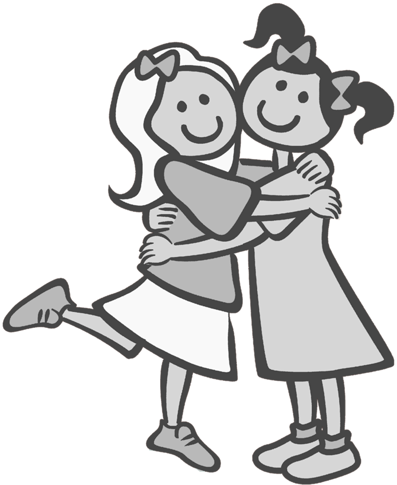 Friends clip art google. Drawing friendship black and white jpg royalty free stock