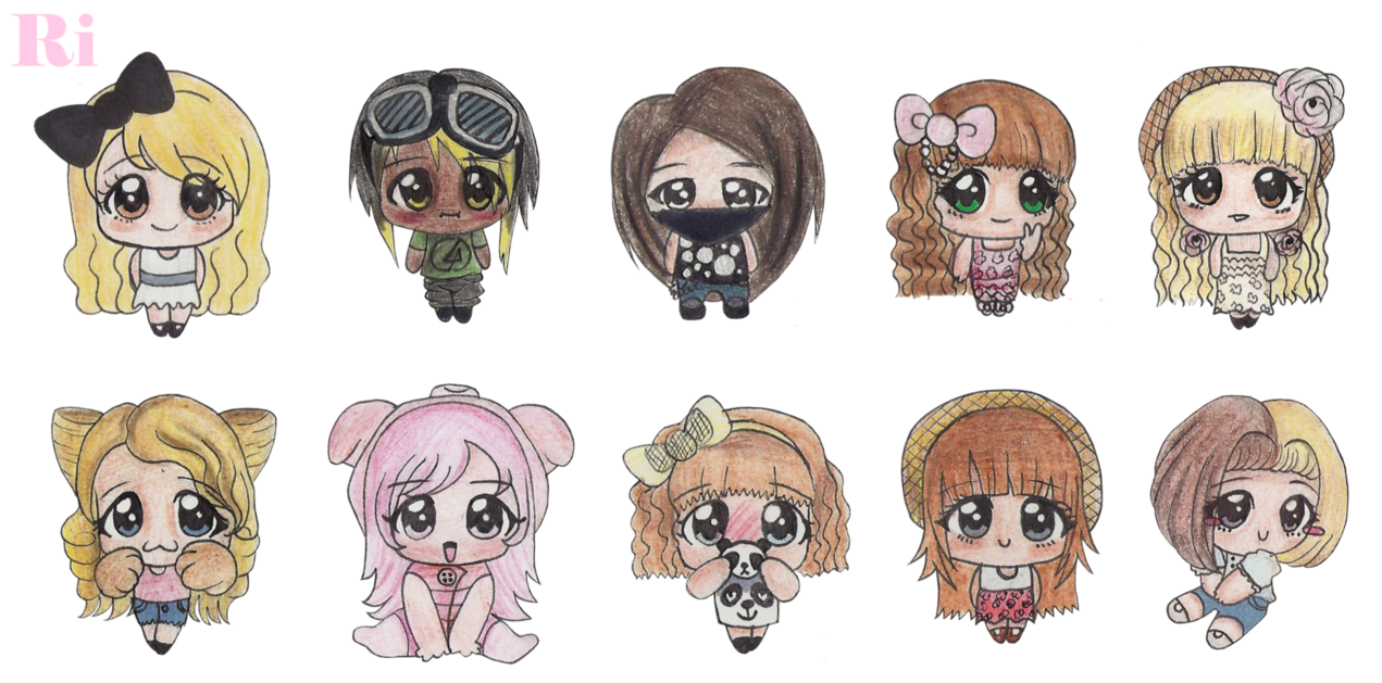 Chibis drawing bff. My chibi friends and