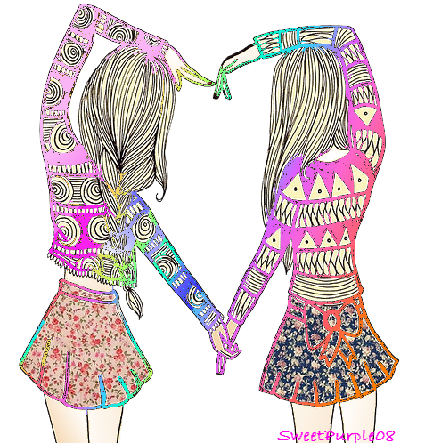Drawing friendship best friends together. Beras png image related