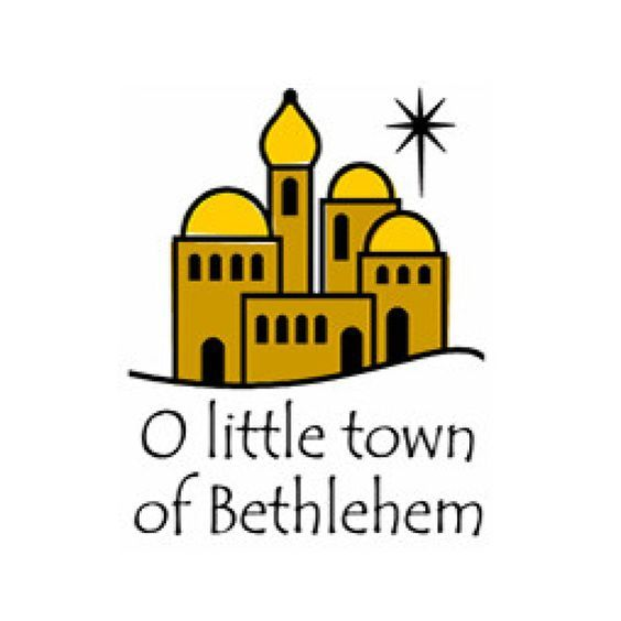 Bethlehem clipart biblical city. Inkwell stamps o little