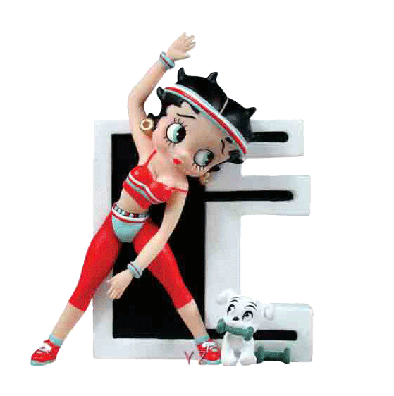 Betty boop letter png. Letters e figurine exercise