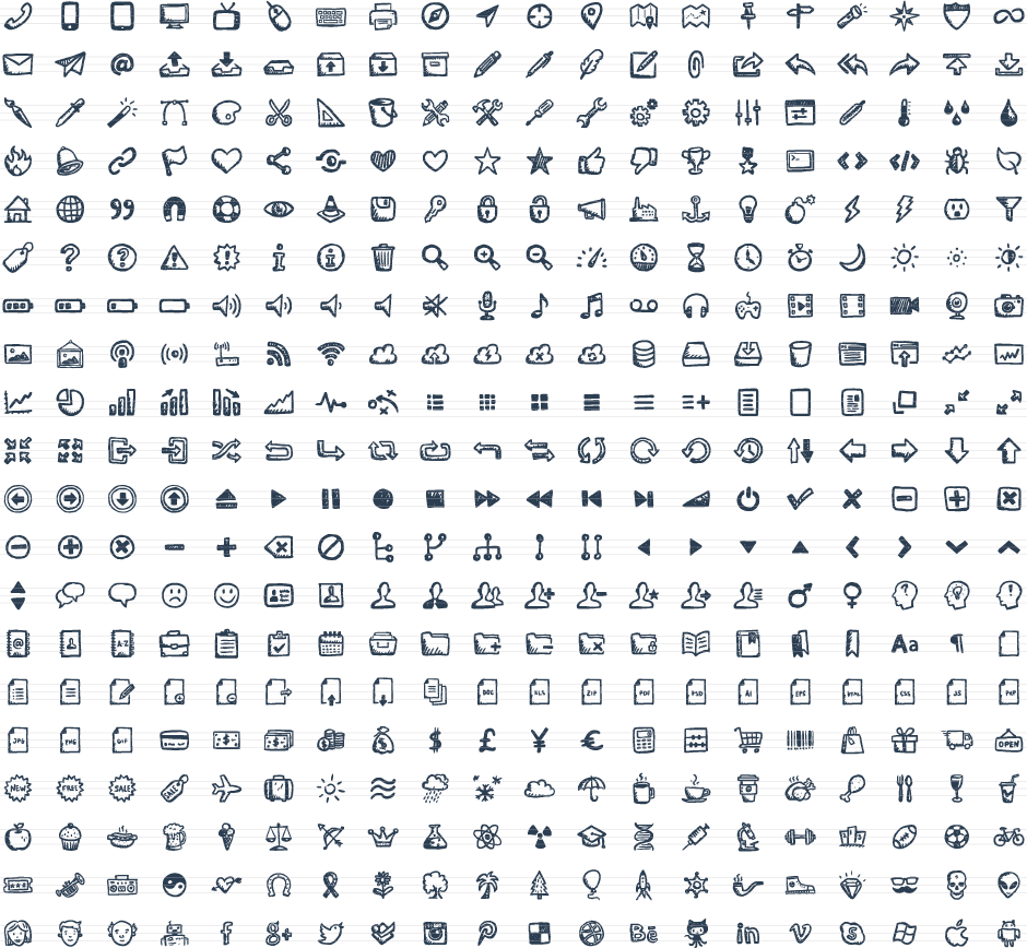 3 vector icon. Jolly icons hand drawn