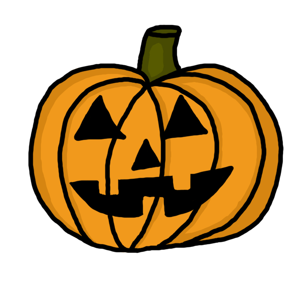 Vector pumpkins pumpkin stem. Halloween clip art