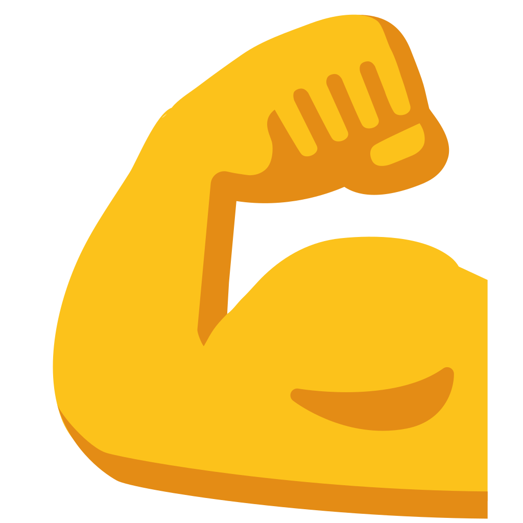 strong arm emoji png