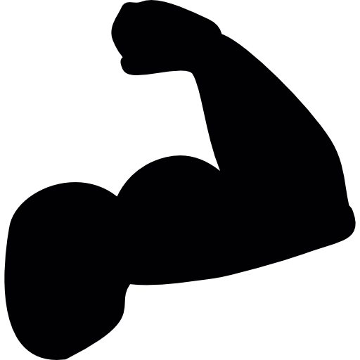Bicep clipart biceps. Of a man silhouette